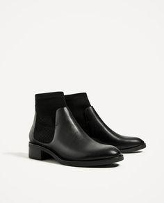 Image 3 de boot PLAT avec STOCKING-DESIGN de Zara