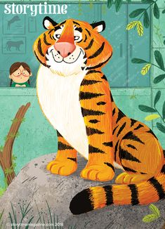 Storytime is the world's best story magazine for kids Cute Cartoon, Cartoon Art, Animal Poems, Tiger Illustration, Tiger Painting, Cute Tigers, In The Zoo, Magazines For Kids, Children's Picture Books