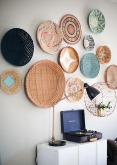 I've been working really hard trying to build my basket wall {and by working really hard I mean going to thrift shops every now and then}. It's EASY to find basic baskets at thrift stores but it's hard to find super cool colorful baskets. I've splurged on a couple new african baskets because they ar…