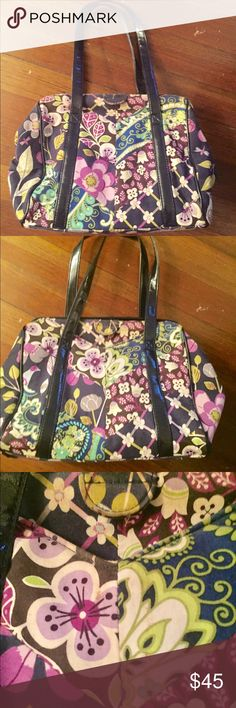 VERA BRADLEY-  Frame satchel Like new condition. Actually forgot I had this. Used probably a few times . Nightingale pattern Vera Bradley Bags