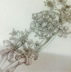 Flower necklace sketch...♡