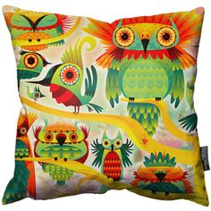 Wall Of Birds Art Cushion, $62, now featured on Fab.