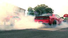 Watch 1414 hp worth of Dodge Challenger Hellcat burnouts Dodge Challenger Srt Hellcat, Car Videos, Muscle Cars, Garage, Fans, Watch, Carport Garage, Clock, Bracelet Watch