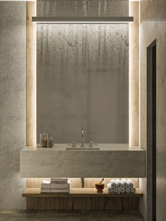 Find out the best luxury bathroom lighting design selection for your next interi… - Modern Luxury Bathroom Master Baths, Bathroom Interior Design, Lighted Bathroom Mirror, Bathroom Mirror, Luxury Master Bathrooms, Bathroom Decor Sets, Luxury Bathroom, Bathroom Decor, Bathroom Lighting Design