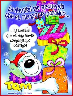 tarjeta bonita de navidad para compartir