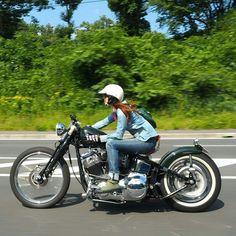 Harley Davidson News – Harley Davidson Bike Pics Custom Bobber, Custom Bikes, Lady Biker, Biker Girl, Chicks On Bikes, Bobber Chopper, Hot Bikes, Moto Style, Biker Chick