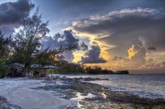 The bar at Small Hope Bay Lodge, Andros Island, Bahamas