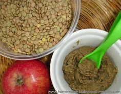 Spiced Lentil and Apple Puree | 27 Easy DIY Baby Foods
