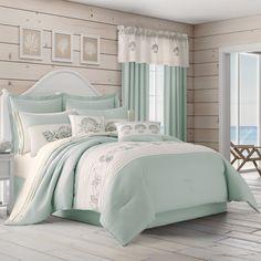 Aqua Bedding, Coastal Bedding, Coastal Bedrooms, Luxury Bedding, Beach Bedrooms, Coastal Decor, Theme Bedrooms, Boho Bedding, Aqua Bedrooms