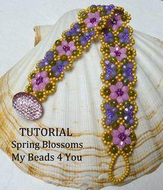 PDF Beading Tutorial Bracelet Beading Pattern Seed от mybeads4you