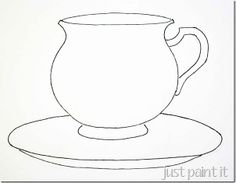 coloring pages teacup - photo#12