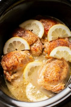 Slow Cooker Lemon Pepper Chicken Thighs Slow Cooker Lemon Chicken Thighs MADE June Used Instant Pot on low for 10 hours. Used 1 teas. Sliced 4 cloves of garlic. Broiling at the end is genius, really good. Lemon Pepper Chicken Crockpot, Chicken Thighs Slow Cooker Recipes, Slow Cooker Lemon Chicken, Slow Cooker Chicken Thighs, Chicken Thigh Recipes, Crock Pot Slow Cooker, Crock Pot Cooking, Crockpot Recipes, Chicken Cooker