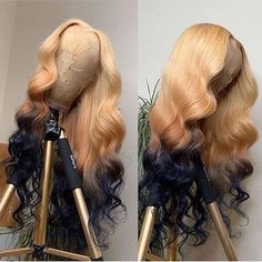 Black Wigs Lace Frontal Black Girl Bun Virgin Human Hair Best Products For Dry Damaged African American Hair Sabrina Wig Blonde Ombre On Black Hair Brown Hair Dyed Blonde, Black Hair Ombre, Dyed Hair Purple, Honey Blonde Hair, Blonde Ombre, Ash Blonde, Blonde Highlights, My Hairstyle, Wig Hairstyles