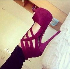 shoes. tacones morados perfect