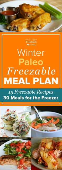 Sticking with a Paleo diet is easy when food is prepared in advance. All the documents needed for a month's worth of Paleo freezer recipes are included in this menu.