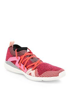 Adidas By Stella Mccartney Edge Knit Trainer Sneakers In Pink Knit Sneakers, Sneakers Nike, High Intensity Training, Stella Mccartney Adidas, Nike Free, Things That Bounce, Trainers, Athletic Shoes, Lace Up