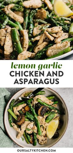 healthy stir fry Simple one-skillet meals, like this Lemon Garlic Chicken and Asparagus, are my weeknight workhorses! This recipe requires just a handful of real whole foods, one pan, Whole30 Dinner Recipes, Healthy Dinner Recipes, Whole Food Recipes, Easy Cooking, Cooking Recipes, Healthy Stir Fry, Lemon Garlic Chicken, Asparagus Recipe, Dairy Free