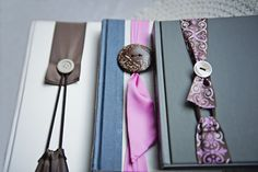 Nifty Ribbon & Button No Slip Bookmark: would be a super easy and inexpensive gift
