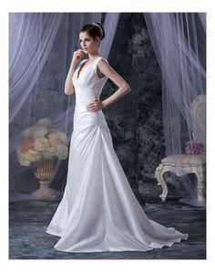 Lace Up Taffettà Pieghe Abito Da Sposa Elegante in Ventita Online