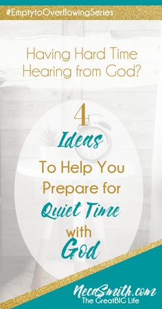 Establishing a quiet time habit is crucial to growing in your relationship with Christ. Learn four ideas to help you prepare for your quiet time with God.