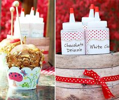 Make your own caramel apple at a party. Have chocolate, white chocolate, nuts, sprinkles & more in easy to use containers.
