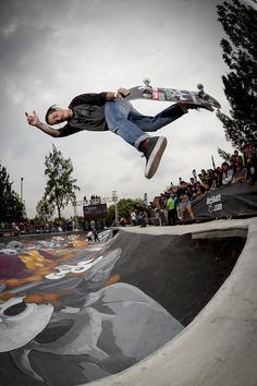 Max Barrera at the Red Bull Deshuesadero in Mexico City. #skate #givesyouwings Image: Miguel Angel López