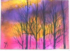 ACEO February Day aceo landscape painting by by jimsmeltzgallery, $20.00