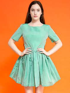 Mint Summer Dress selected by #CaliSelectVintage #AmericanApparel