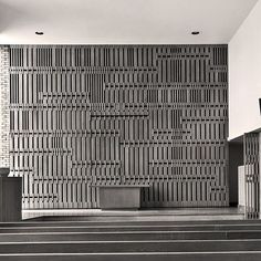 One of my favorite spaces in the historic First Christian Church, designed by Eliel Saarinen the Chapel's… Architecture Details, Interior Architecture, Wall Finishes, Wall Cladding, Wall Patterns, Grey Walls, Wood Walls, Interior Walls, Wall Treatments