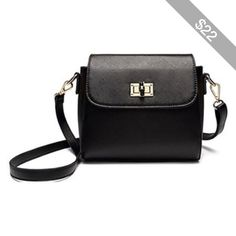 Mini Satchel with Twist Lock Fastening