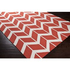 Surya Rug in Poppy Red: FAL-1054