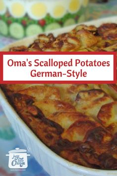 ❤️ Best Scalloped Potatoes made Just like Oma These are the BEST scalloped potatoes you can make because this is such an easy and foolproof way to make them. Not only that, but they are Gluten Free, using whipping cream to thicken! Dutch Recipes, Side Recipes, Cooking Recipes, German Recipes, Amish Recipes, Bavarian Recipes, German Desserts, Cooking Kale, Cooking Courses