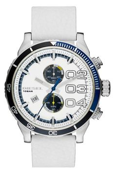 DIESEL®+'Double+Down+2.0'+Chronograph+Leather+Strap+Watch,+48mm+available+at+#Nordstrom