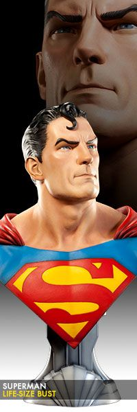 bef135a93a8 DC Comics Superman Life-Size Bust by Sideshow Collectibles. Action Comics 1Dc  ...