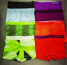 More nike pros Nike Pro Spandex, Volleyball Spandex, Nike Pro Shorts, Gym Shorts Womens, Cheer Clothes, Cheer Outfits, Nike Outfits, Sport Outfits, Workout Attire