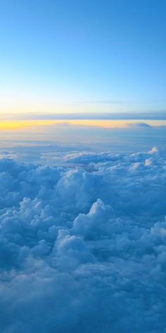 Clouds and sunset, sky, sea of clouds, wallpaper - Nature, Natural Wallpapers Clouds Wallpaper Iphone, Blue Butterfly Wallpaper, Cloud Wallpaper, Iphone Background Wallpaper, Baby Blue Wallpaper, Sunset Wallpaper, Mobile Wallpaper, Blue Sky Clouds, Sunset Sky