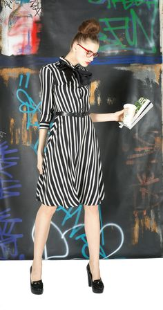 loraine long shirt dress with tie from alice + olivia, $237