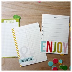 Graphic Journal Cards