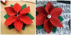 Flor de diy's: Christmas Time Day- Estrella con flor de Pascua