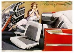 swivel seats in '57 Chrysler product