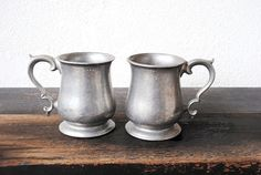 Vintage Beer Mugs Wilton Armetale Plough by vintageeclecticity, $48.00