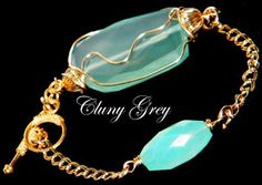 The Jewelry Blog - Chalcedony and gold-filled bracelet