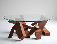 Brutalist Coffee Table by Wyatt Ellison in Steel and by teakhound