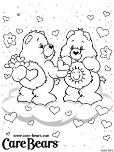 Spring Coloring Pages, Bear Coloring Pages, Online Coloring Pages, Cartoon Coloring Pages, Free Printable Coloring Pages, Coloring Sheets, Coloring Pages For Kids, Coloring Books, Cute Bear Drawings