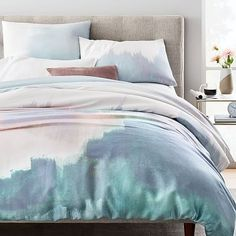 TENCEL™ Abstract Landscape Duvet Cover + Shams #westelm