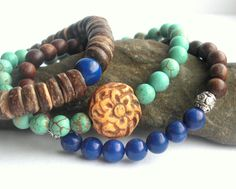 Speak Your Mind Mala Bracelet Stack  by JewelsofSaraswati on Etsy, $43.00