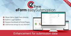eForm easySubmission - Direct Form Edit & Extended Format String by WPQuark  eForm easySubmission Add-on easySubmission is a premium add-on for eForm WordPress Form Builder plugin which provides a bunch of functionality to handle submissions effectively. Directly Editable Forms Generate a new type of shor