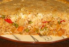 Panjaratan Dum Biryani (Five-Jeweled Vegetable Rice Topped With Puff Pastry.recipe - from the Nancy's Family Cookbook Family Cookbook