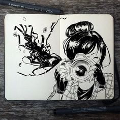 Help your memory  #261 Take Pictures  #art #drawing #illustration #inktober #doodle #camera #photography #photographer #moleskine #traditional #ink #sketch #sketchbook #anime #manga #design #graphicdesign #brazil #artist #_picolo