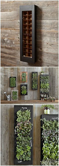 RECTANGULAR CHALKBOARD WALL PLANTER - Bring your wall to life with a stunning vertical herb garden.